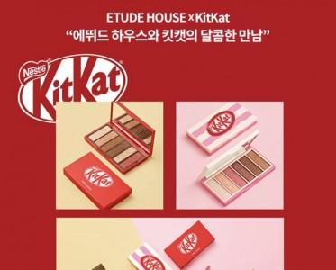 """KIT KAT跨界合作彩妆 """"巧克力味""""的眼影你喜欢吗~"""