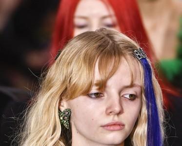 Ashley Williams秀场的妆 是把卡通元素画脸上?