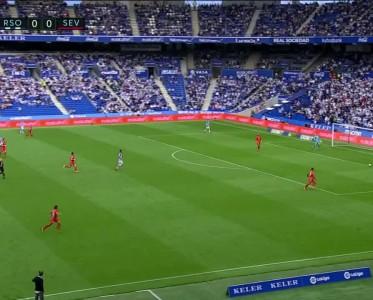 西甲比赛集锦 皇家社会vs塞维利亚