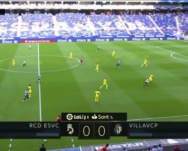 西甲比赛集锦 西班牙人0-0比利亚雷亚尔