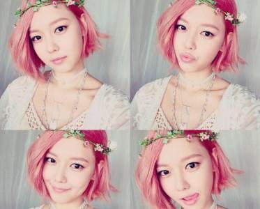 美妆大神Pony韩国爱豆金泰妍的粉色头发让我爱上了!