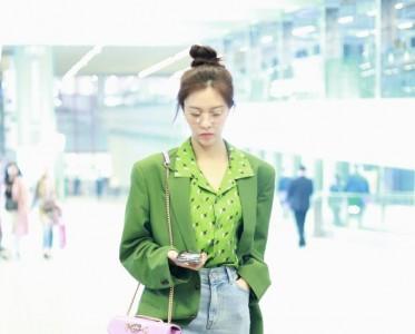 """牛油果色""""染""""爆今夏 机场女星纷纷变身清凉绿仙女"""
