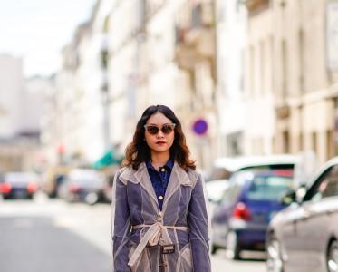 轻薄的「网纱外套」,才是乱穿衣季节里的混搭高手