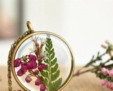 美到心里的花朵樹脂珠寶!