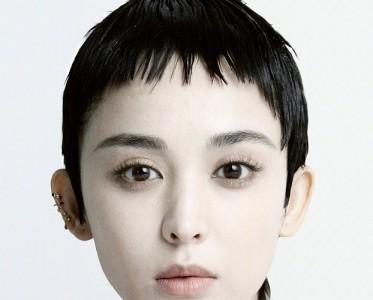 古力娜扎短发造型拍摄封面,妆容清淡五官惊艳!
