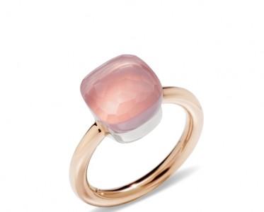 浪漫芳香  宝曼兰朵蔷薇石NUDO系列戒指