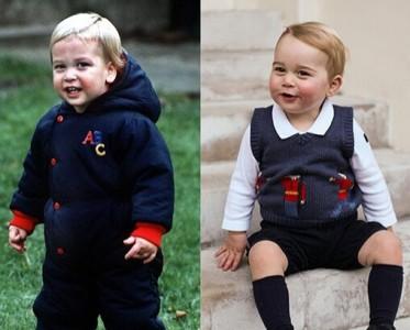 凯特王妃威廉王子童年照曝光 与儿子乔治比萌