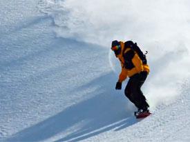 """越冷越带劲 """"混小子""""钩子的滑雪经历"""