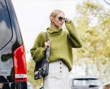 我只用一件纯色毛衣,就和冬天所有单品搭个遍!