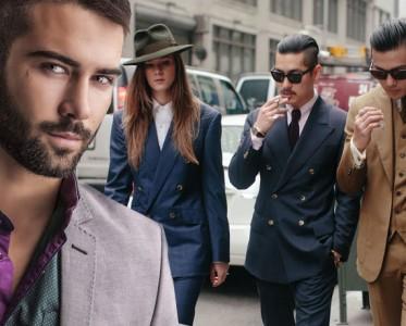 一件外套 三种不同穿法 双排扣西装让男士变得时尚
