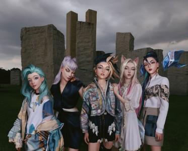 全球音乐巨星K/DA女团全员身着路易威登女装