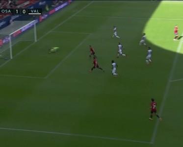 西甲比赛集锦 奥萨苏纳1-4瓦伦西亚