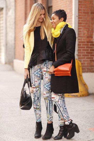 潮人街拍穿衣 花裤子横行纽约时装周(图3)