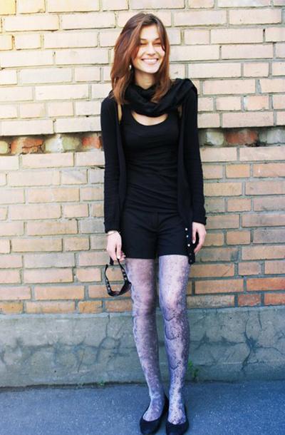 梦幻紫色花纹丝袜