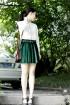 自制复古金丝绒短裙