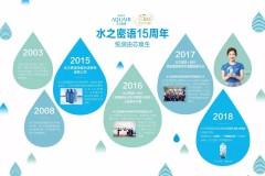 多年来致力于公益事业、关心地球水资源的水之密语,在15周年之际倾情加盟2018乐活水公益项目,并于3月22日、第二十六届世界水日当天,在上
