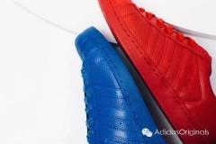 有多人偏爱纯色系,这红、蓝配色,那一款颜色是你的最爱?Adidas Origina