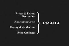 Prada有史以来首次同时邀请四位声名卓著的创意大师,分别创作一件独特单品。此次创作的焦点落脚于Prada多面性中工业化的一面。 Rona
