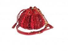 缪缪09情人节系列多种红色抽绳褶皱包